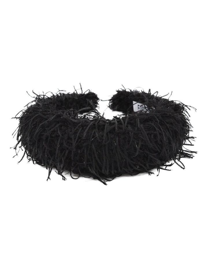 Black Vegan Suede Feather Headband image 2