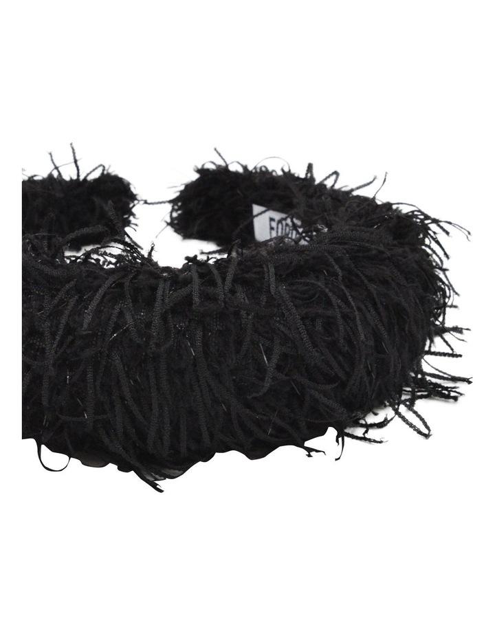 Black Vegan Suede Feather Headband image 3