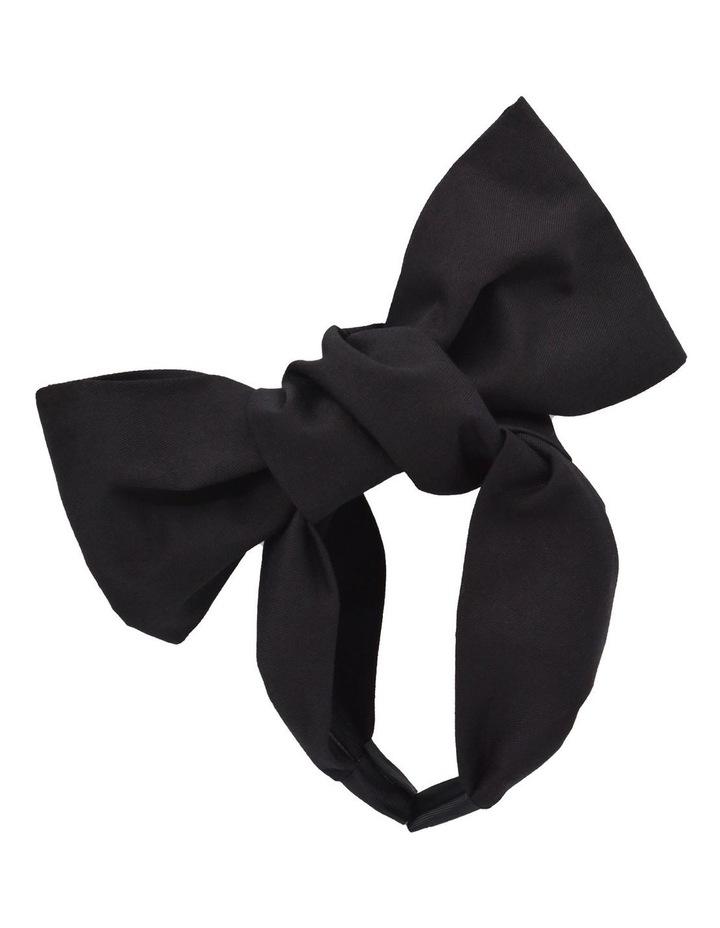 Black Oversized Bow Headband image 1