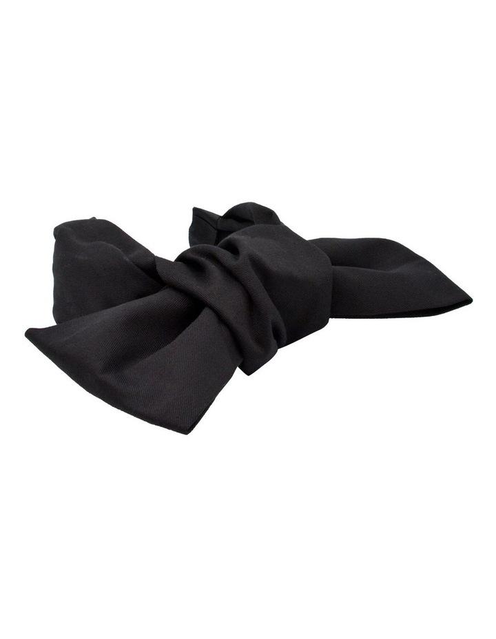 Black Oversized Bow Headband image 3