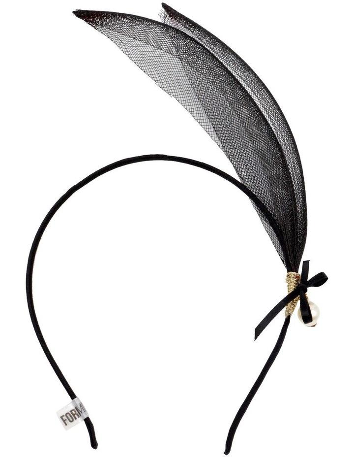 Sculpted Black Fascinator image 1