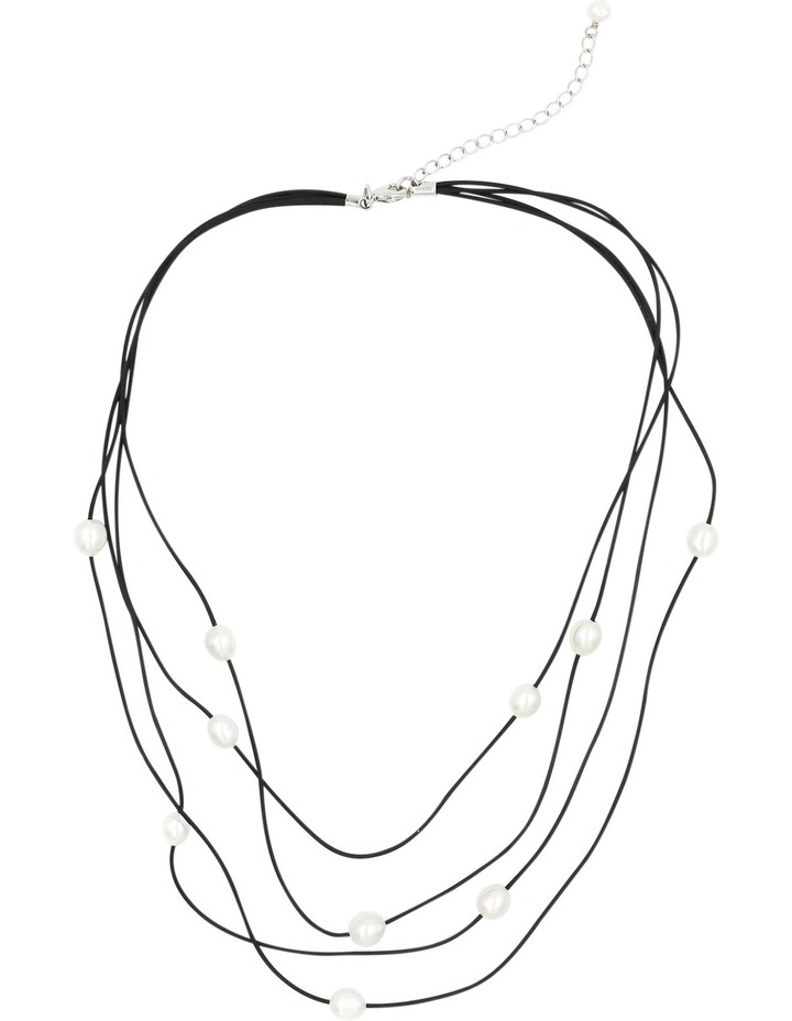 C0266AN-002 4 Row Corded Pearl Necklace image 1