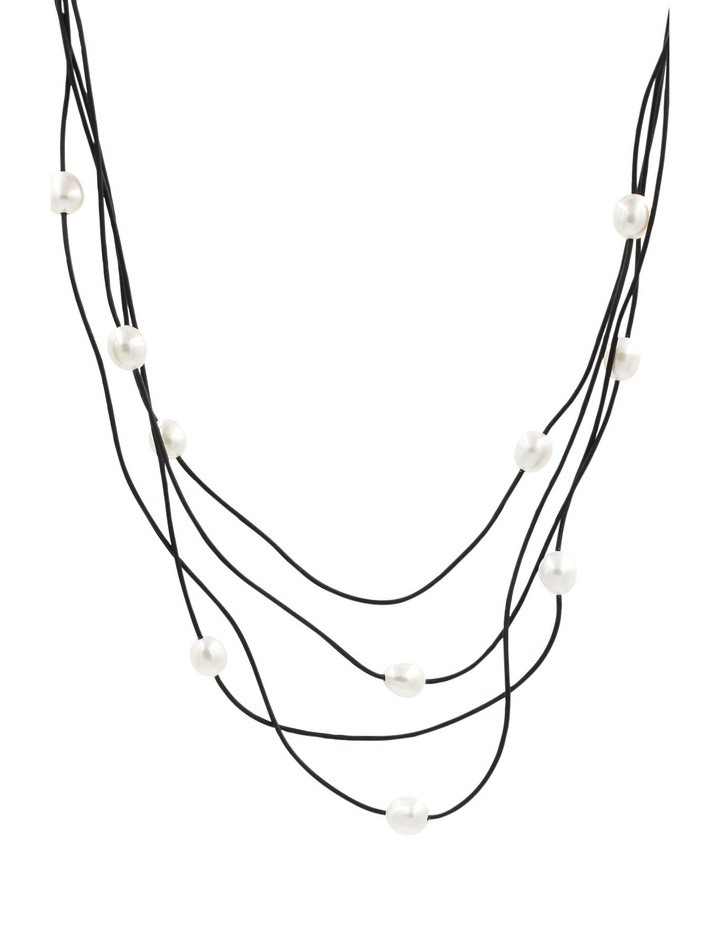 C0266AN-002 4 Row Corded Pearl Necklace image 2