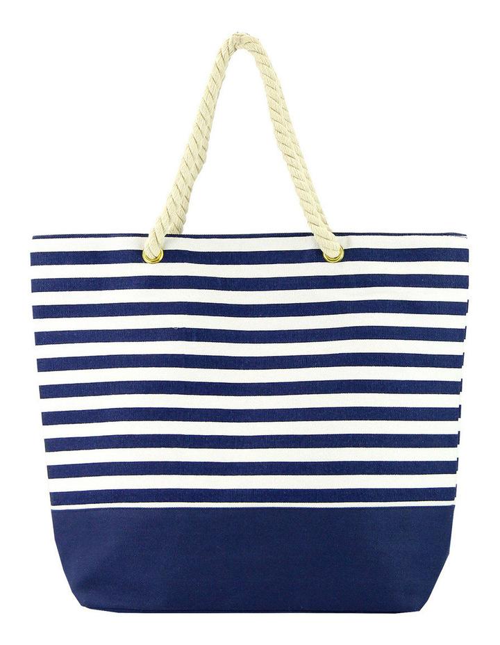 139BC3502 Striped Beach Bag image 1