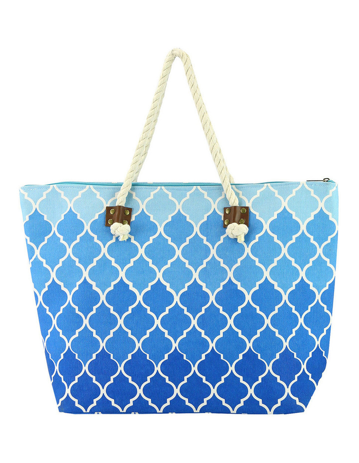 MY235-ZX9522 Quatrefoil Beach Bag image 1