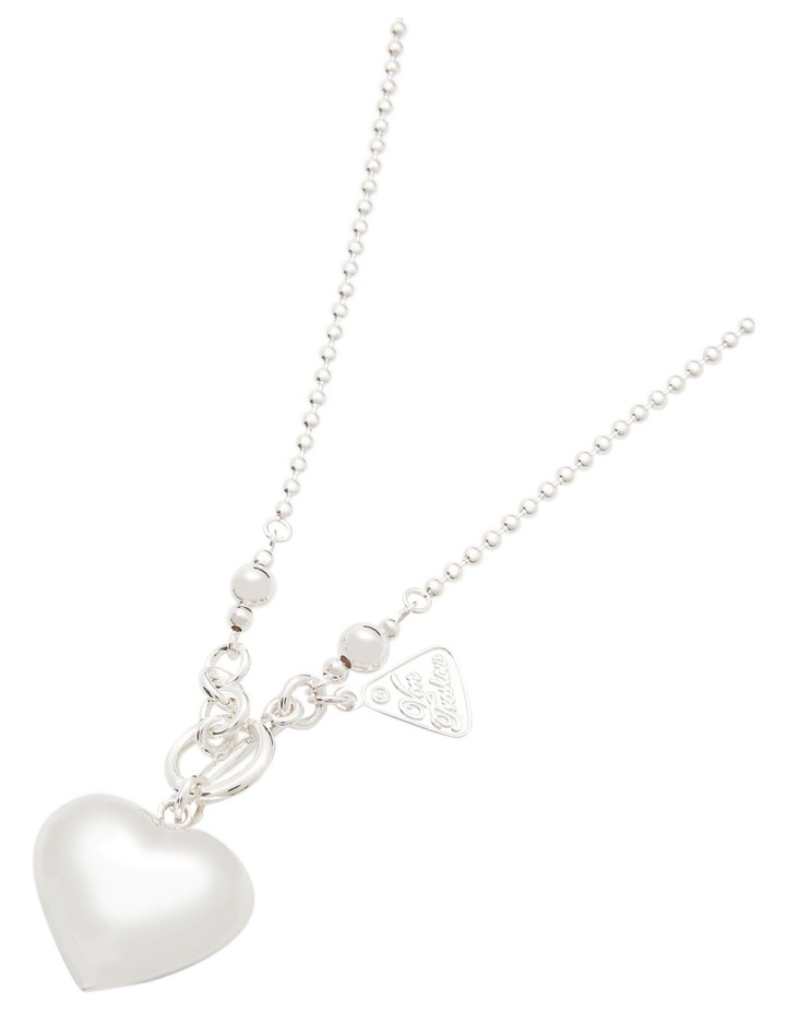 Sterling Silver Heart Pendant with Fob Clasp image 4