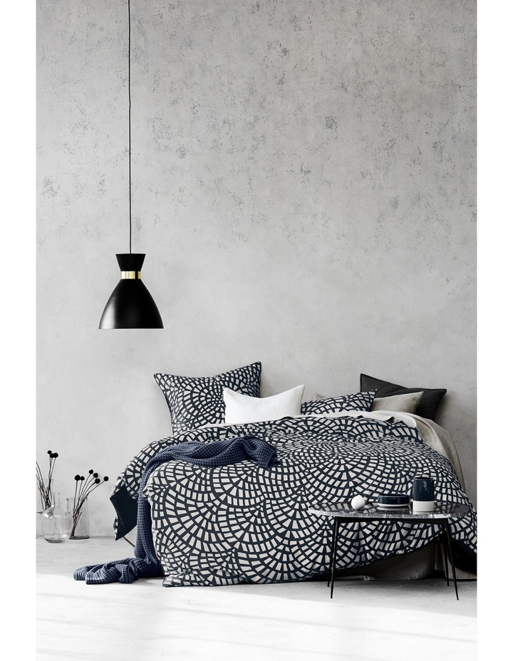 Finca Quilt Cover Set Range in Greystone image 1