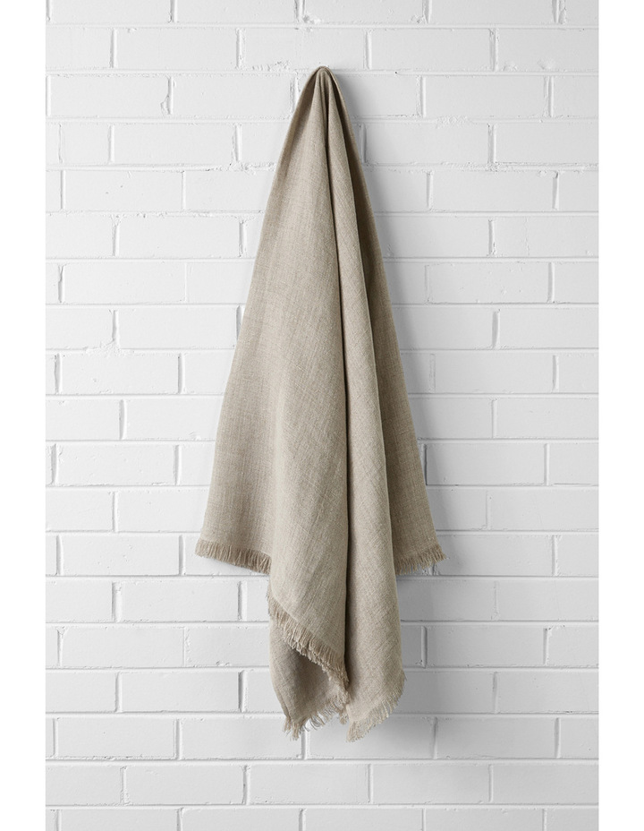 Vintage Linen Throw in Natural image 1