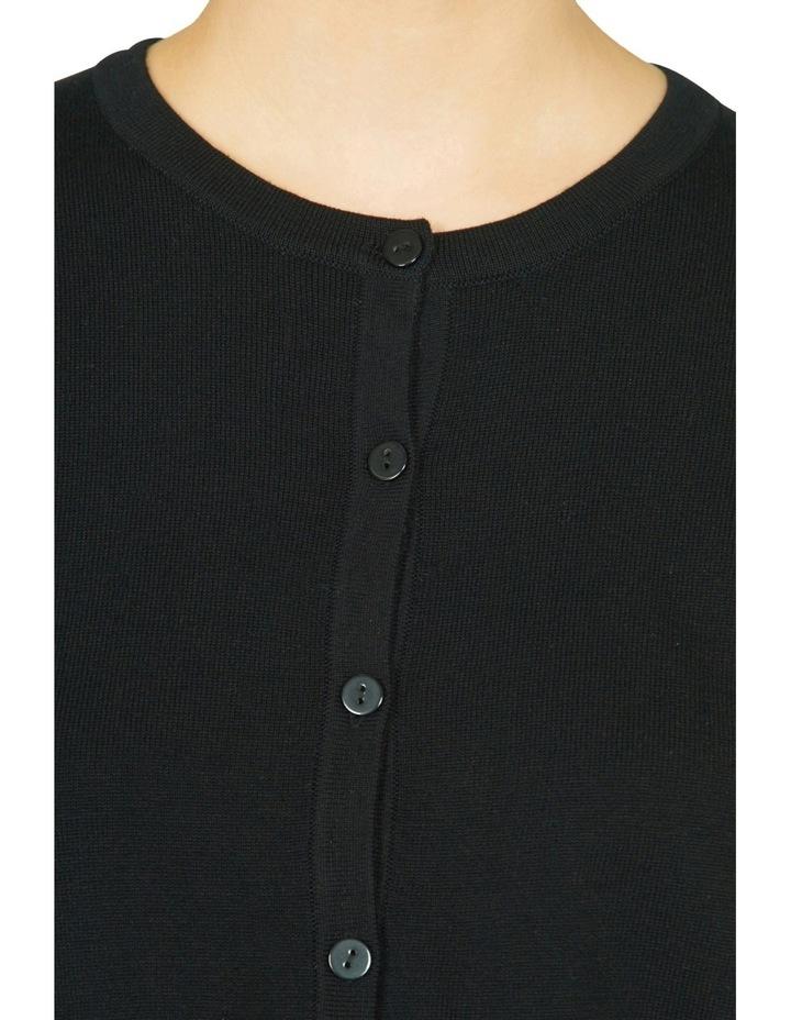 Silk Back Cropped Sleeve Cardigan image 4
