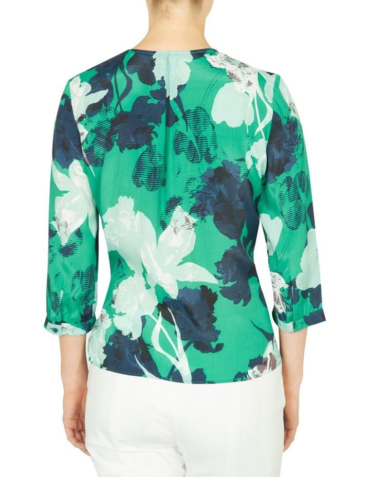 Mod Floral Print Wrap Blouse image 3