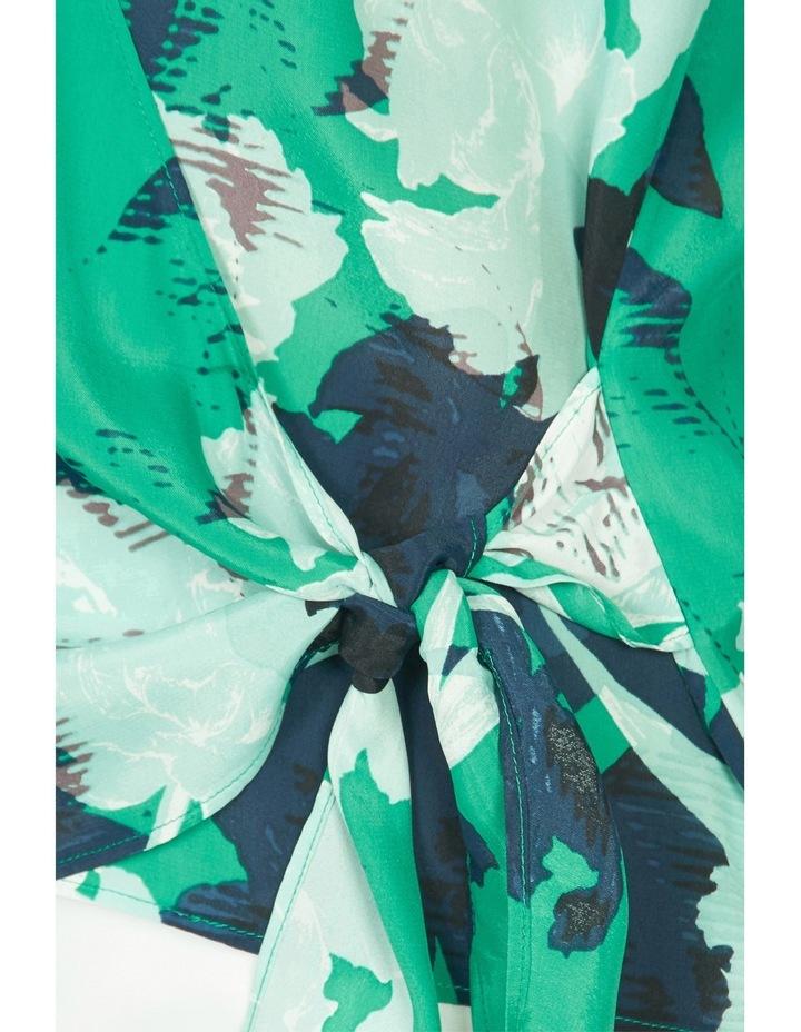 Mod Floral Print Wrap Blouse image 4