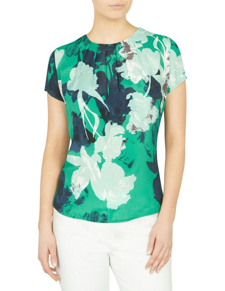 Mod Floral Silk Front Tee image 1