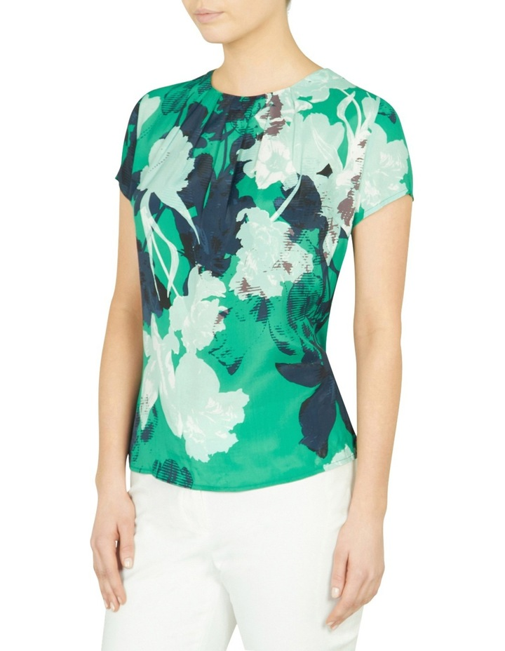 Mod Floral Silk Front Tee image 2