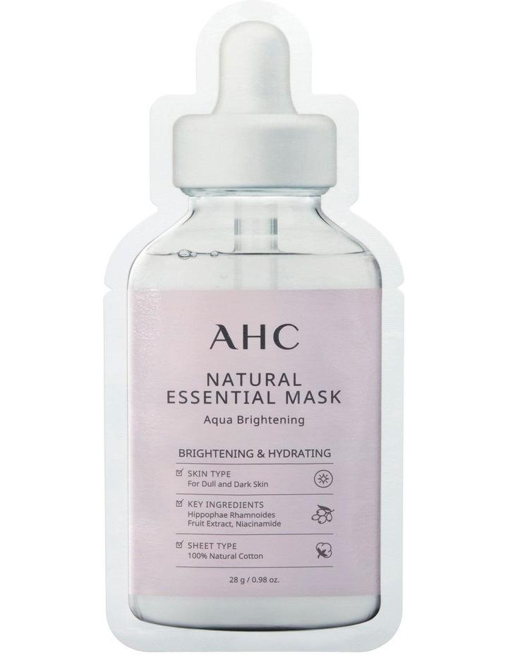 Natural Essential Mask Aqua Brightening 28g image 1