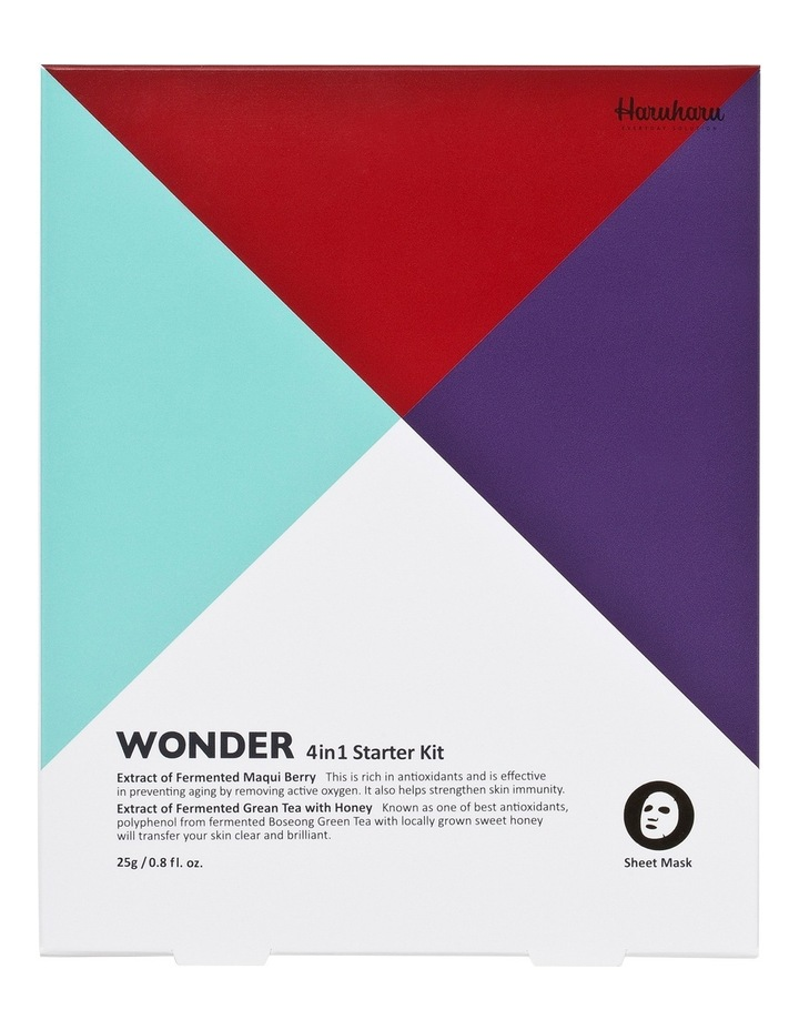 Wonder Starter Kit Sheet Masks 4 pack image 1