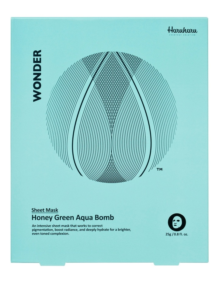 Wonder Honey Green Aqua Bomb Mask 5 Pack image 1