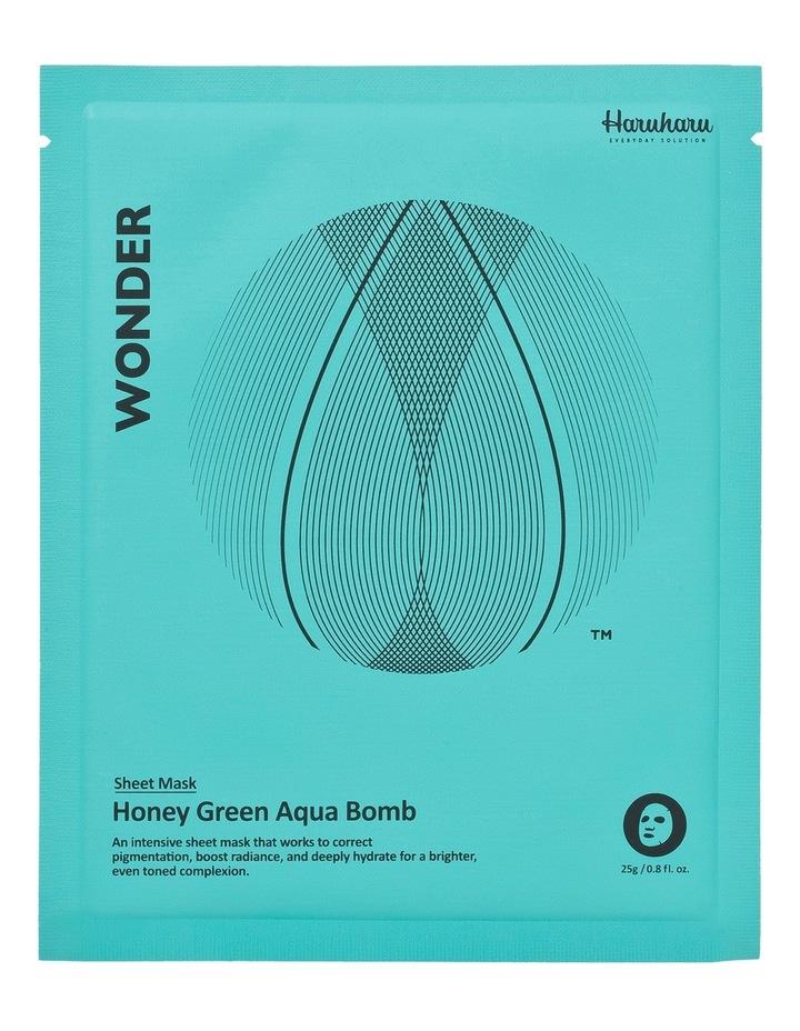 Wonder Honey Green Aqua Bomb Mask 5 Pack image 2