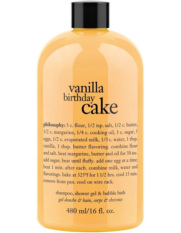 Vanilla Birthday Cake Shampoo Bath And Shower Gel Image 1