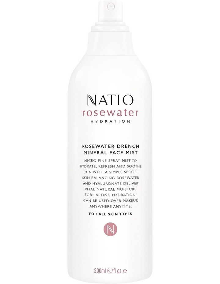 Rosewater Hydration Moisture Drench Mineral Face Mist 200ml image 1