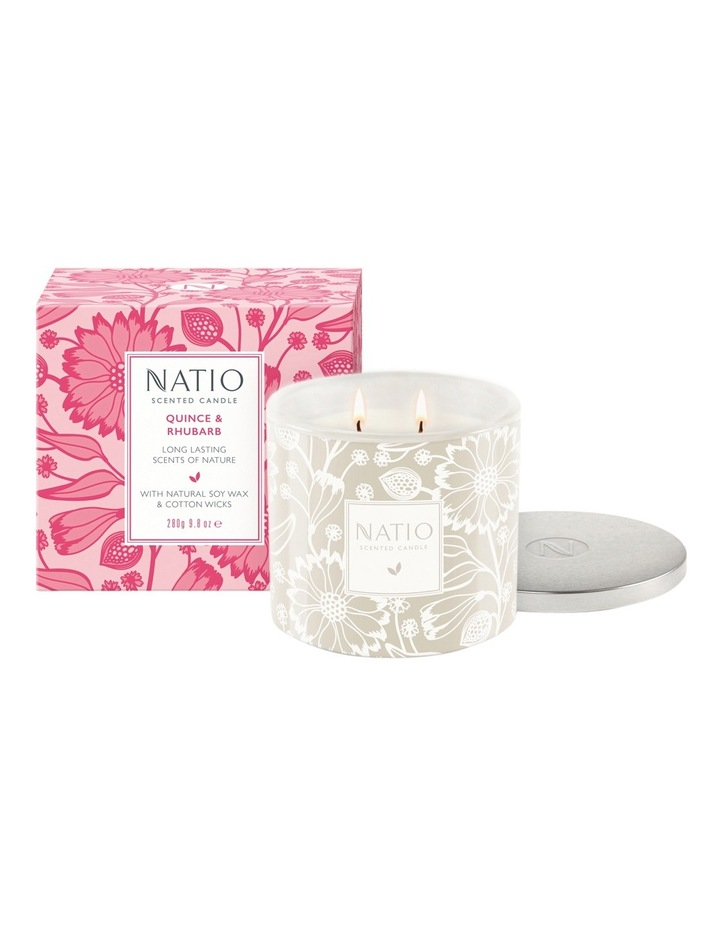 Scented Candle - Quince & Rhubarb image 1