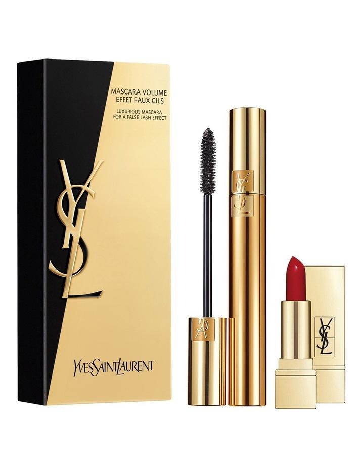 Mascara Volume Effet Faux Cils   Mini Rouge Pur Couture Set image 1