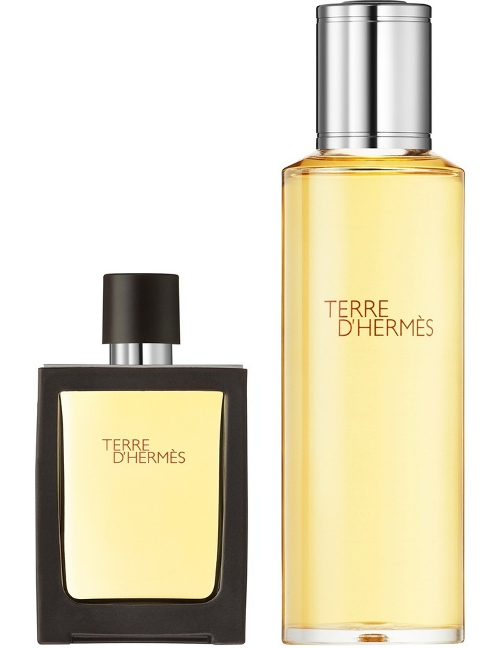 Terre d'Hermès Parfum, 30 ml travel spray and 125 ml refill image 1