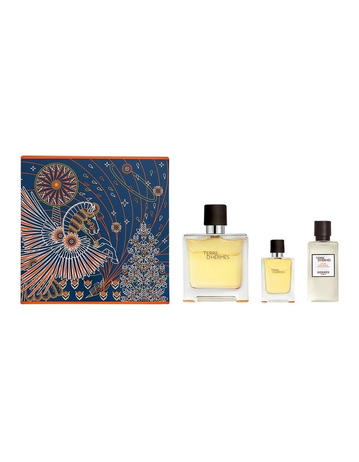 Terre D'Hermes Pure Perfume Set (PP 75ml; Miniature 12.5ml; After Shave Lotion 40ml) image 2