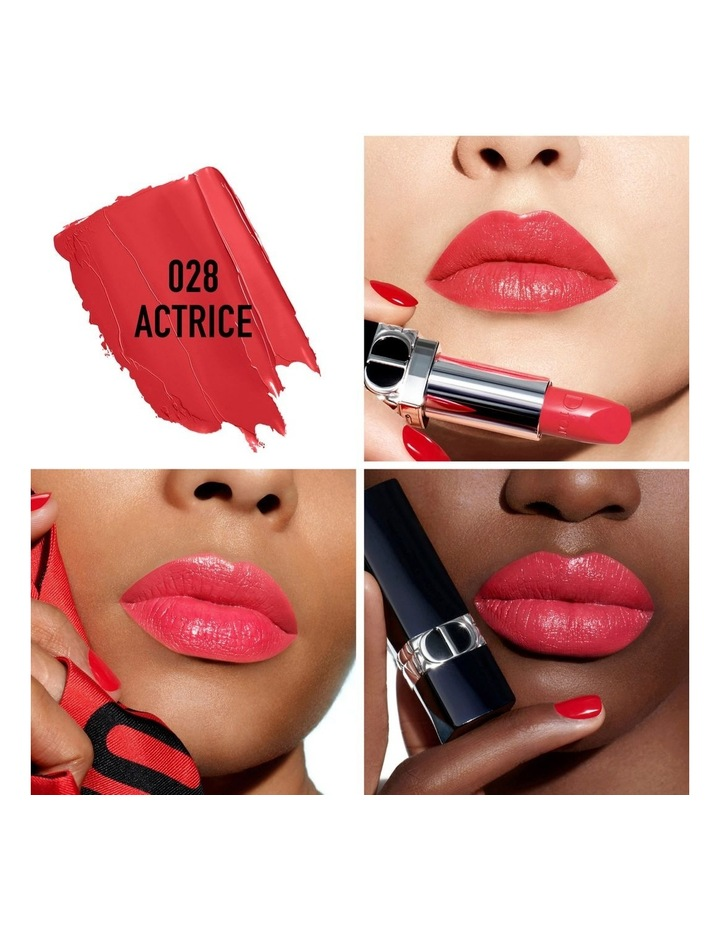 Rouge Dior Couture Colour Refillable Lipstick - 4 Finishes: Satin, Matte, Metallic and Velvet - Floral Lip Care image 3