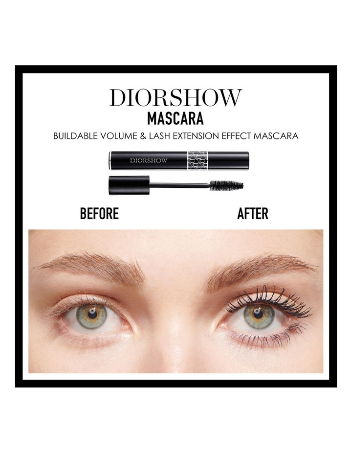 Diorshow Black Out Waterproof Spectacular Volume Intense Black Khol Mascara Waterproof image 2