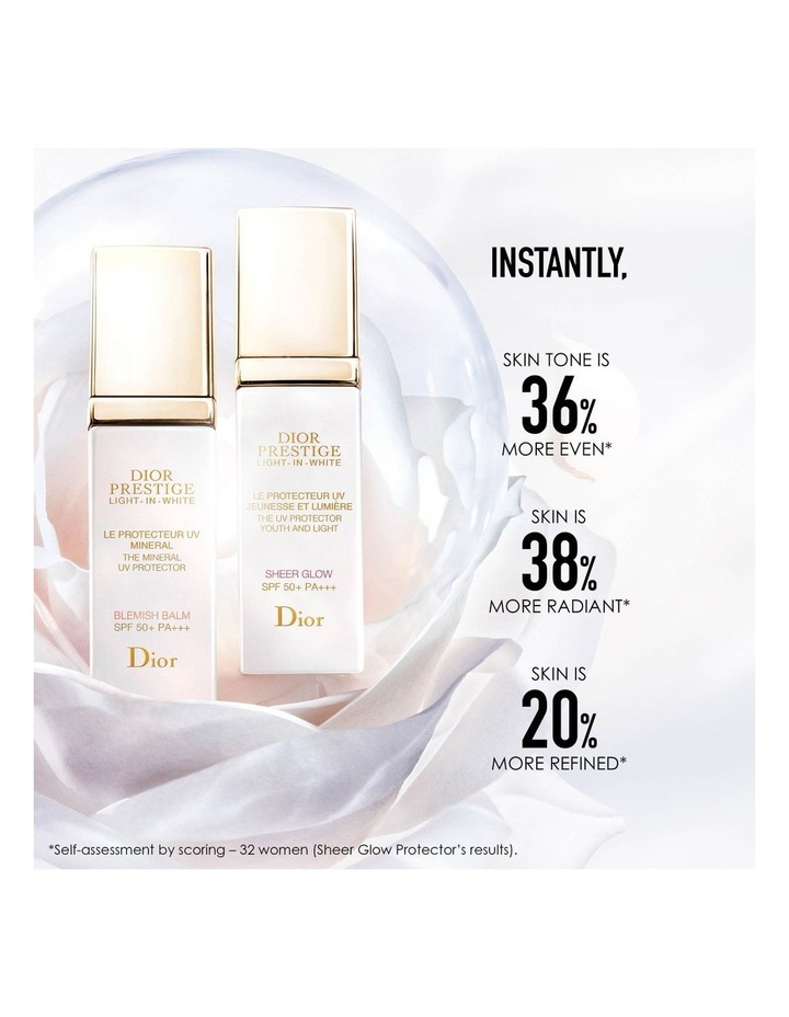 Dior Prestige Light-in-White The UV Protector Youth And Light - Sheer Glow SPF 50+ PA++ image 3