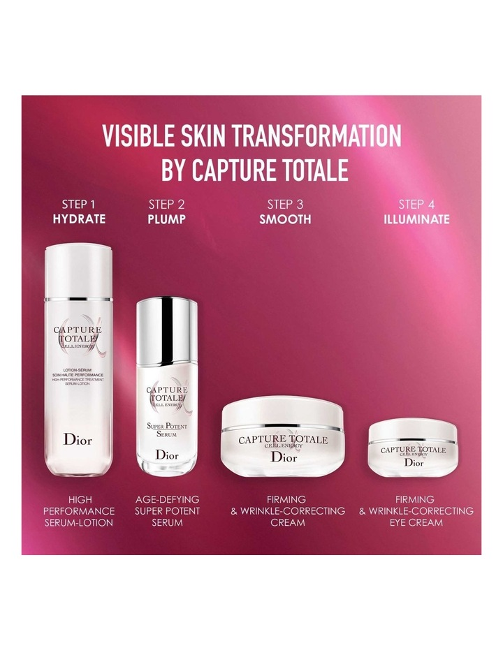 Capture Totale Exclusive Kit  Serum, Creme And Eye Cream  Firming And Wrinkle-Correcting image 4