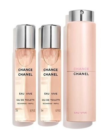 CHANEL CHANCE EAU VIVE Twist   Spray 3 X 20ml fa2e1cc0ce