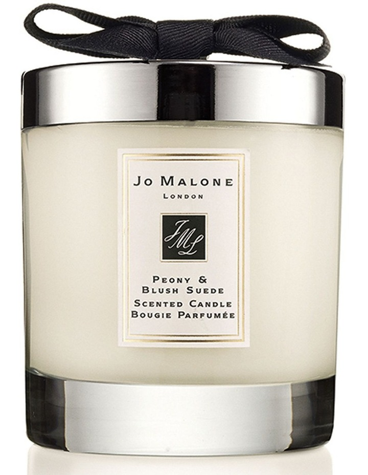 Peony & Blush Suede Home Candle image 1