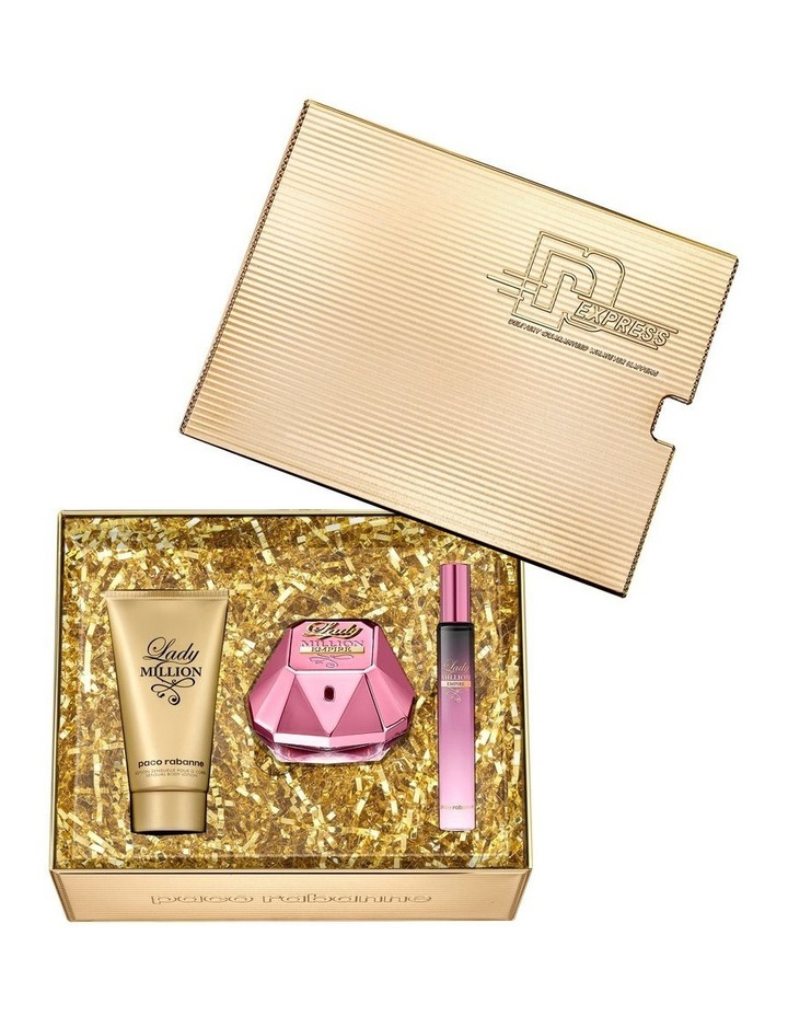 Lady Million Empire EDP 50ml Body Lotion 75ml and Travel Spray 10ml Gift Set image 2