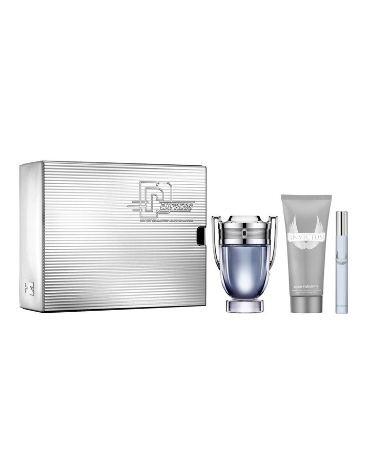 Invictus EDT 100ml, Shower Gel 100ml and Travel Spray 10ml Gift Set image 1