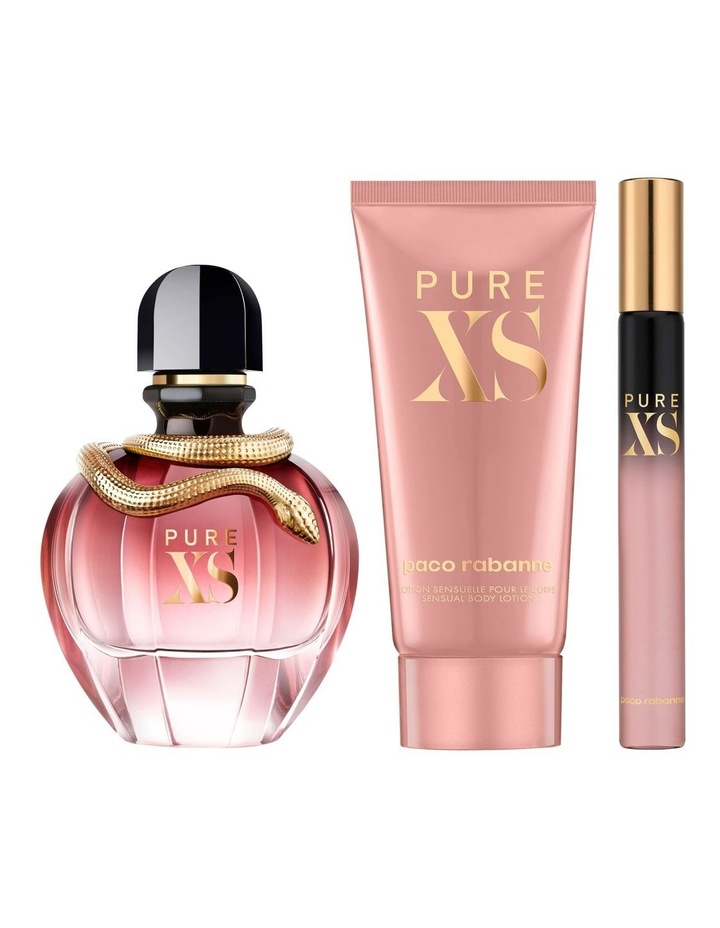Pure XS for Her EDP 80ml, Body Lotion 100ml and Travel Spray 10ml Holiday Set image 3