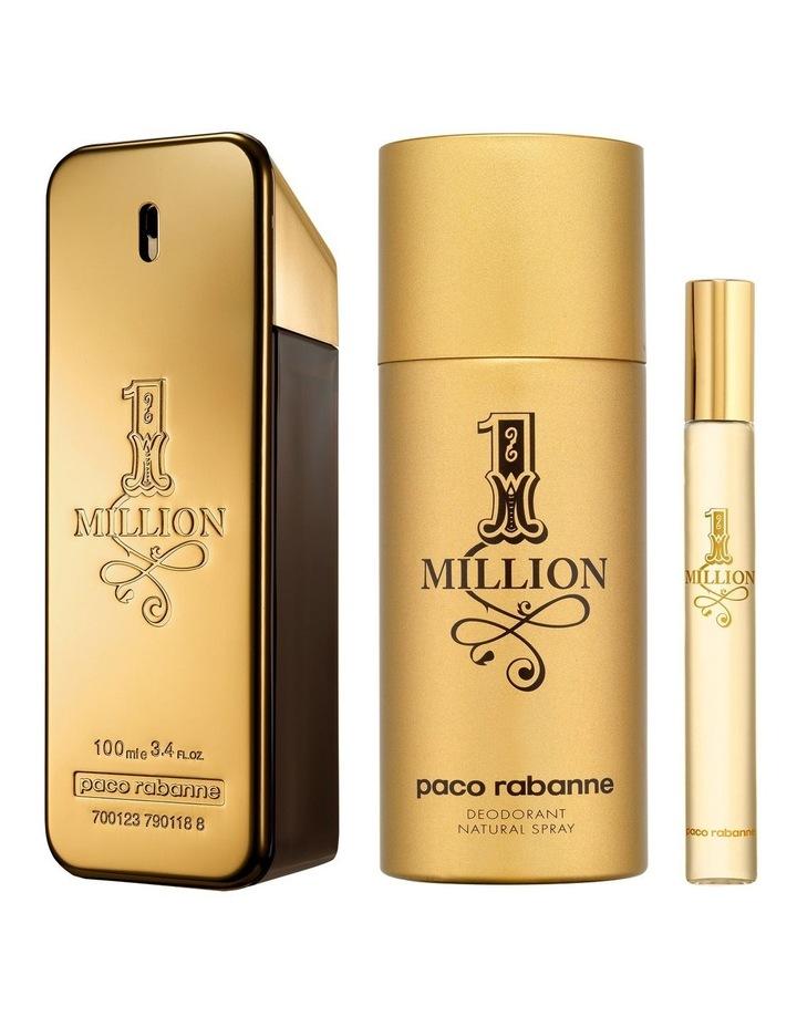 One Million EDT 100ml, Deodorant 150ml and Travel Spray 10ml Holiday Set image 3
