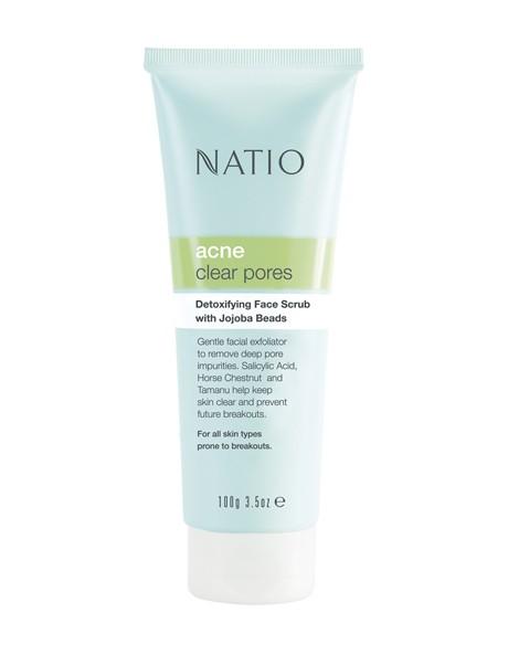 Acne Detoxifying Face Scrub with Jojoba Beads image 1