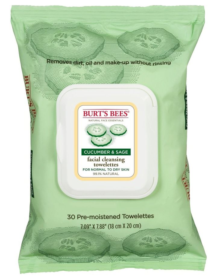 Cucumber & Sage Cleansing Towelettes image 1