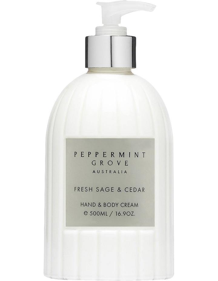 Fresh Sage & Cedar Hand & Body Cream 500ml image 1