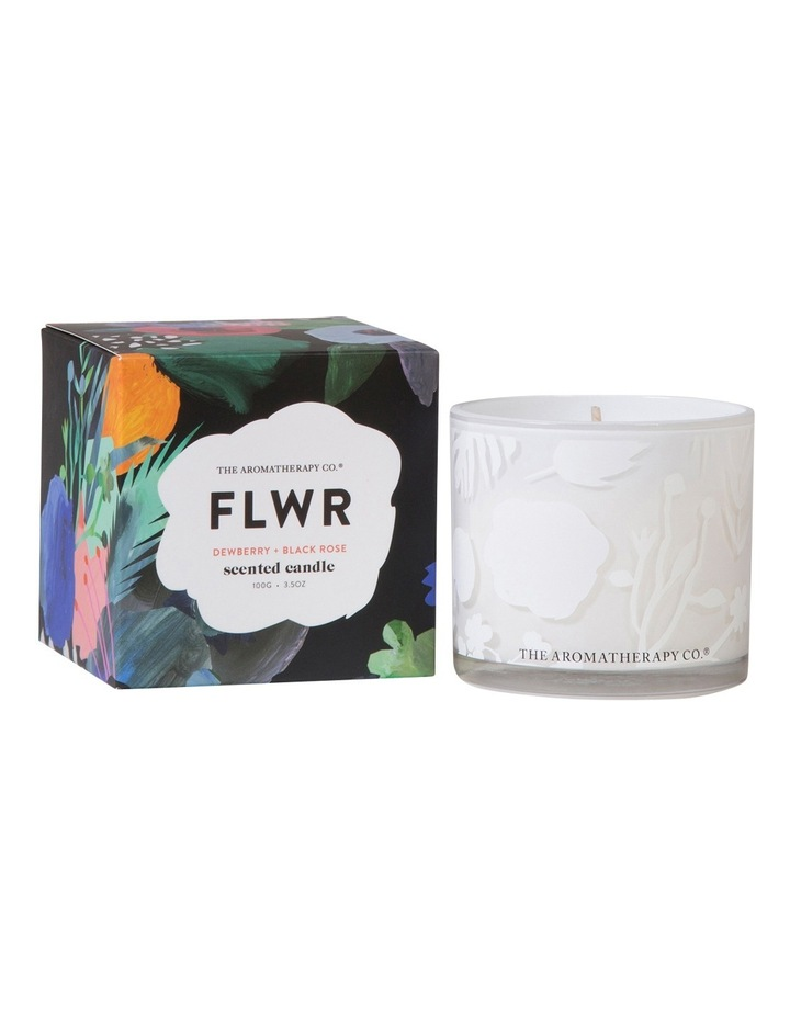 FLWR Candle 100g - Dewberry & Black Rose image 1