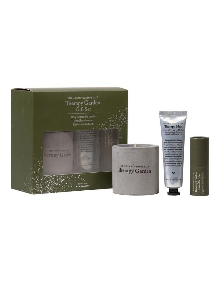 Therapy Gardener Set - Citronella Candle 100g, Hand Cream Lime & Mint 30ml, Citronella Balm 15g image 1