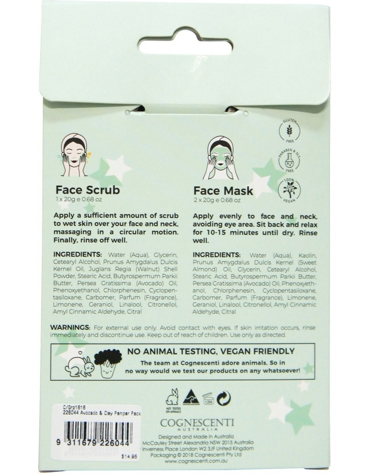 Avocado & White Clay Face Pamper Pack image 2