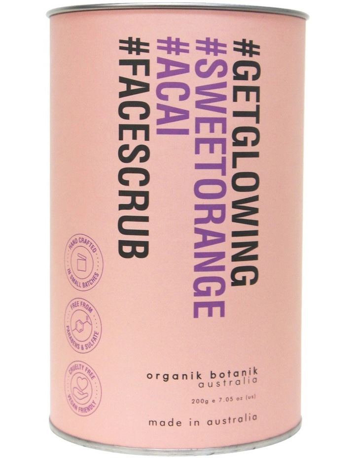 Hashtag Powdered Face Scrub - Sweet Orange & Acai Berry 200g image 1