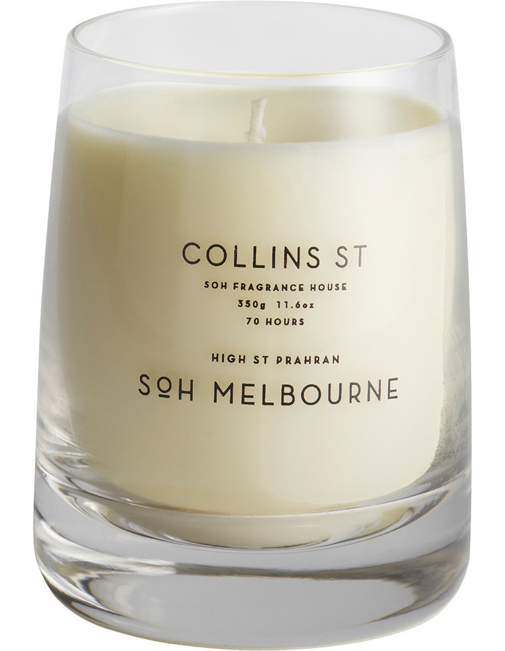 Clear Glass Collins St Candle image 1