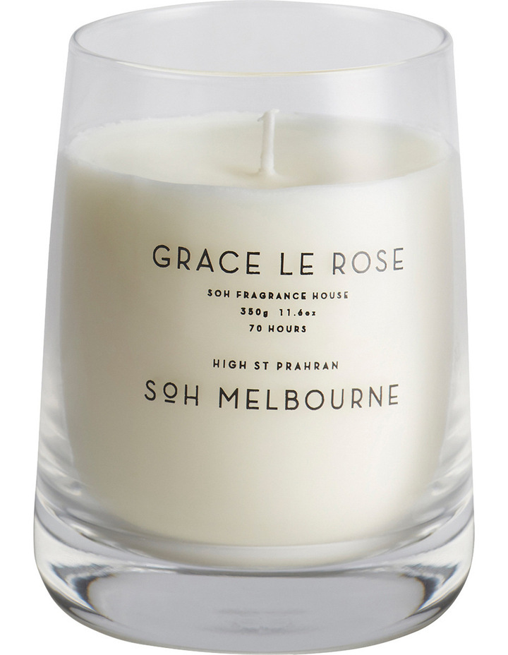 Clear Glass Grace Le Rose Candle image 1