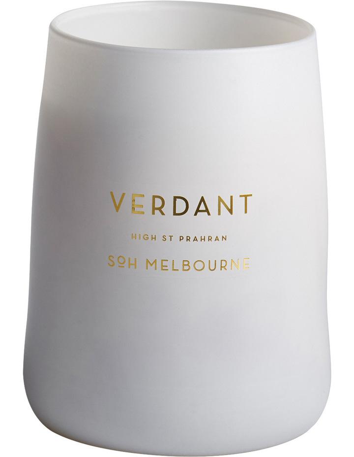 White Matte Verdant Candle image 1