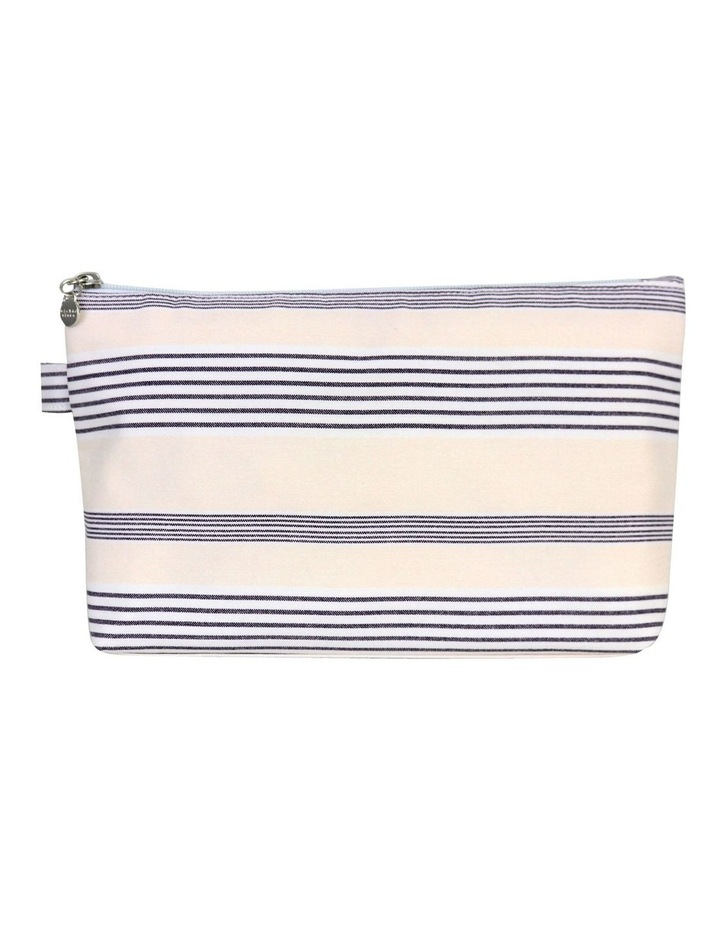 Neutral Stripe Large Luxe Cos Bag image 1