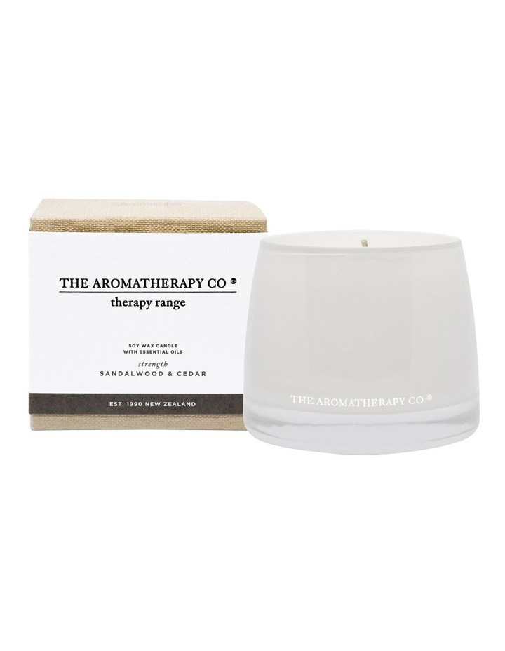 Therapy Candle Strength Sandalwood & Cedar image 1