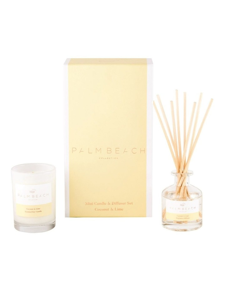 Coconut & Lime Mini Candle & Diffuser Gift Pack image 1